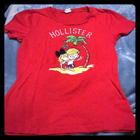 43dc742f18 Hollister Red Surfer Girl Tee